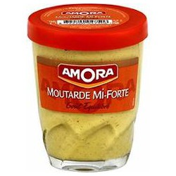 Amora Moutarde Mi-Forte Amora Verre 140G