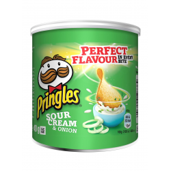 Pringles Sour Cream Flavour Crisps Savoury Snacks 40g