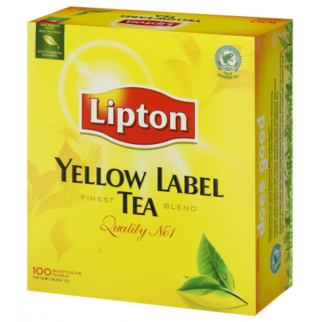The Lipton Yellow Label 100 Sachets 2 Grs