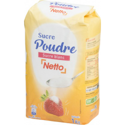 Netto Sucre Poudre Scht1K 1/2P