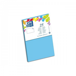 Oxford 25 Cartes 12,8 Cm X 8,2 Cm X 0,7 Cm 240G Bleu Lagon