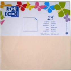 Oxford 25 Cartes 12,8 Cm X 8,2 Cm X 0,7 Cm 240G Vanille
