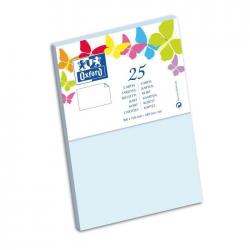 Oxford 25 Cartes 15 Cm X 10 Cm X 0,7 Cm 240G Bleu