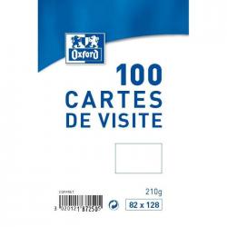 Oxford 100 Cartes De Visite 12,8 Cm X 8,2 Cm X 2,8 Cm Blanc