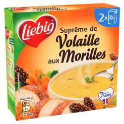 Liebig Soupe Suprême De Volaille Aux Morilles Le Lot De 2 Bricks De 300Ml