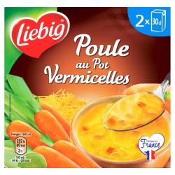 Liebig Soupe Poule Au Pot/Vermicelles Les 2 Briques De 30Cl