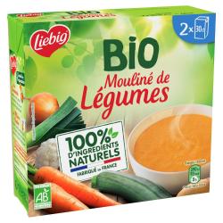 Liebig Soupe Bio Mouliné De Légumes Les 2 Briques De 30Cl