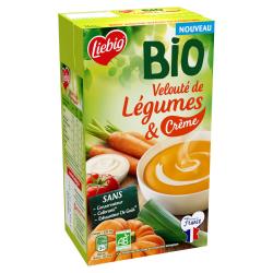 Liebig Soupe De Légumes & Crème Bio La Brique D'1L