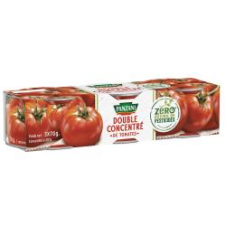 Panzani Sauces Tomates Double Concentré Les 3 Boites De 70G