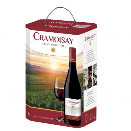 Les Caves Vernaux Vin Rouge Cramoisay La Fontaine De 5L