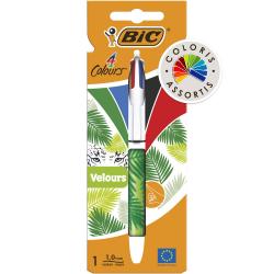 "Bic Stylo Bille ""Velours"" Pointe Moyenne 4 Colours : Le Stylo"