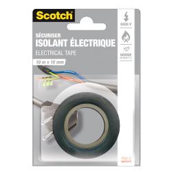 Scotch Adhésif Noir Isolation Électrique 10Mx15Mm : Le Rouleau