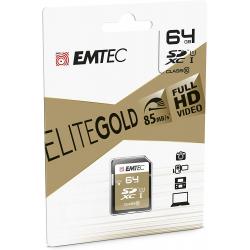 Emtec Carte Sd 64Gb Uhs-I U1 Elitegold Performance Vitesse De Lecture Jusqu'À 85Mb/S