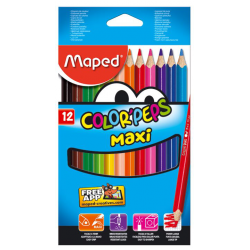Maped 12 Crayons Couleur Jumbo
