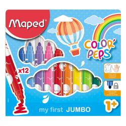 Maped Boite De 12 Feutres De Coloriage Lavables Color'Peps