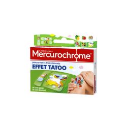 Mercurochrome Pansement Kids Transparent Effet Tatoo : La Boite De 12 Pansements