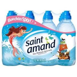 Saint Amand Eau Minérale Bouchon Sport : Le Pack De 12 Bouteilles De 33 Cl