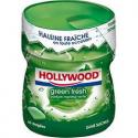Hollywood Chewing-Gum Menthe Verte S/Sucres La Boite De 60 Dragées - 87 G
