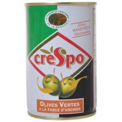 120G Olives Verte Anchois Crespo