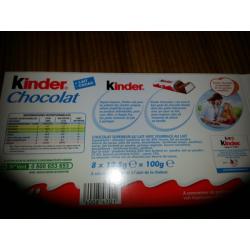 Kinder Chocolat T8 Etui 100G