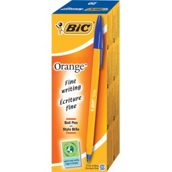 Bte 20 Orange Fine Bleu