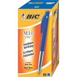 50 Stylos M10 Medium Bleu