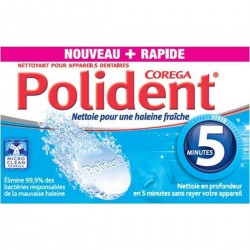36 Comprimes Nettoyant 5Mn Polident