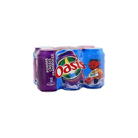 Pack Bte 6X33Cl Oasis Pomme/Cassis/Framboise