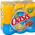 Oasis Boisson Orange : Le Pack De 6 Canettes De 33Cl