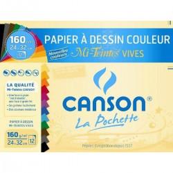 Canson 12 Feuilles Vives 24X32