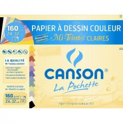 Canson 12F.Coul.Claire 24X32