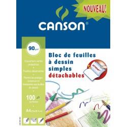 Canson 100 Fm Dessin A4 90G
