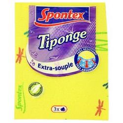 3X Tiponge Spontex Tissus Éponge Extra Souple