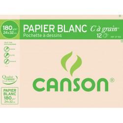 Pochette Papier Dessin C A Grain 180G 24X32 Canson