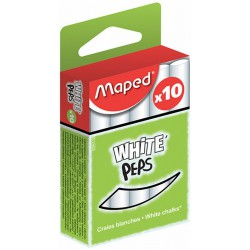 Maped Bte 10 Craies Blanches