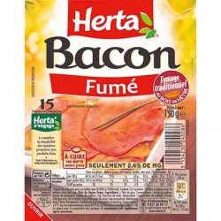 Herta Bacon Superposé Herta Barquette150G