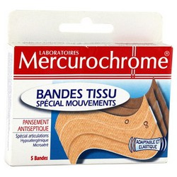 6+20% Bandes Ultra Extensible Decoupees Mercurochrome