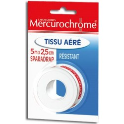 Sparadrap Tissu Mercurochrome