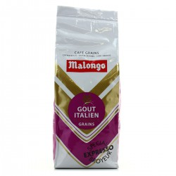 250G Cafe Grains Gout Italien Malongo