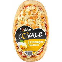 Sod Pizza Ovale 3 Fromage 200G