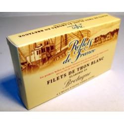 Bte 1/10 Filet Thon Blanc Huile Olive Extra Vierge Reflets De France
