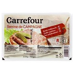 2X50G Terrine De Campagne Crf