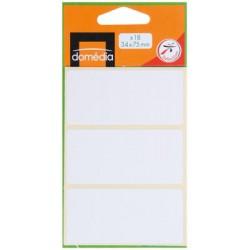 Dom.18Etiquettes Blc 34X75Mm