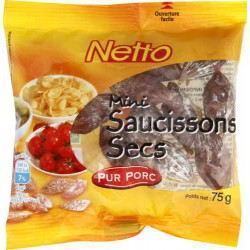 Netto Mini Saucisson Nat 75G
