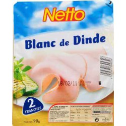 Netto Blanc Dinde 2T 90G