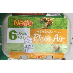 Netto 6 Oeufs Plein Air M