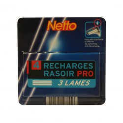 Netto Recharges 3 Lames X 4