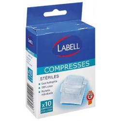 Labell Compr. Gaze Sterilx10