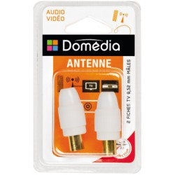 Domedia 2Fiches Tv Male 9.52Mm