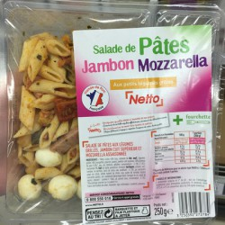 Netto Salade Pennes Jambon250G